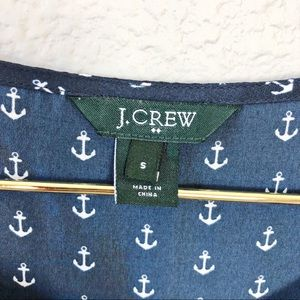 J. Crew Tops - J. Crew Nautical Navy Anchor Print Blouse
